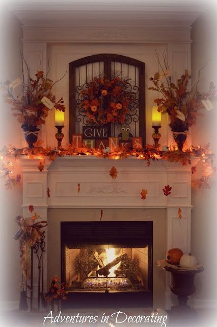 Fireplace Decoration With Edcdeacbbee Fireplace Design Fireplace Adventures In Decorating: Our Fall Mantel | Mantle