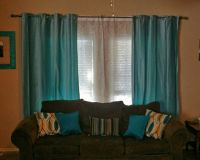 My New Living Room Curtains. I love them! Light Turquoise ...