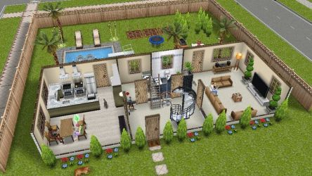 sims freeplay houses play backyard plans landscaping central simsfreeplay hallway cute staircase rectangle pixels