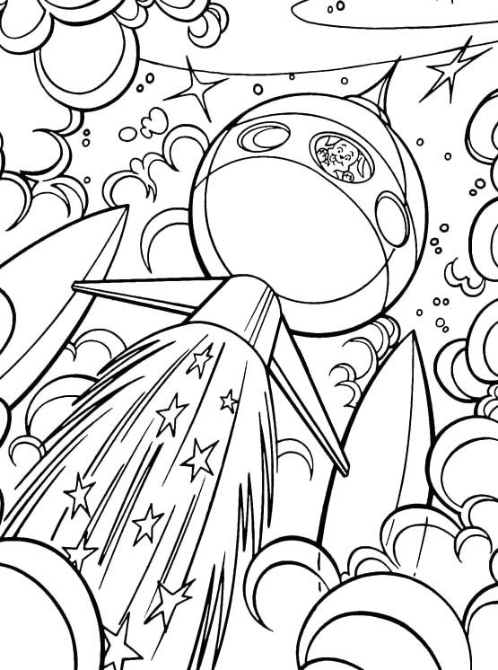 Krypto The Dog Go Into Outer Space Coloring Pages - Krypto Coloring Pages : KidsDrawing