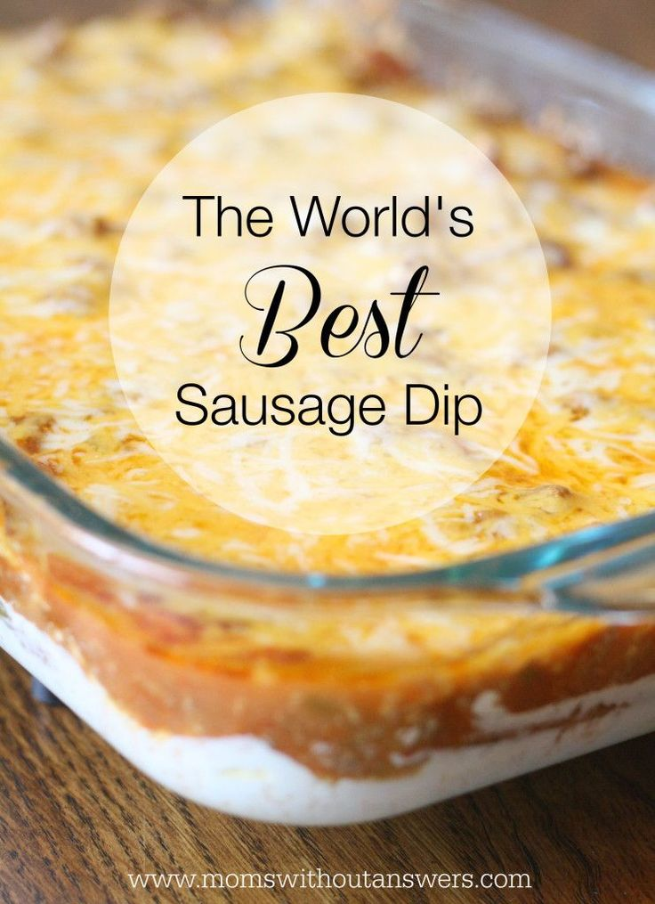 This Worlds Best Sausage Dip is sure to be a party favorite. Quick and easy recipe will be your new party go to that your friends