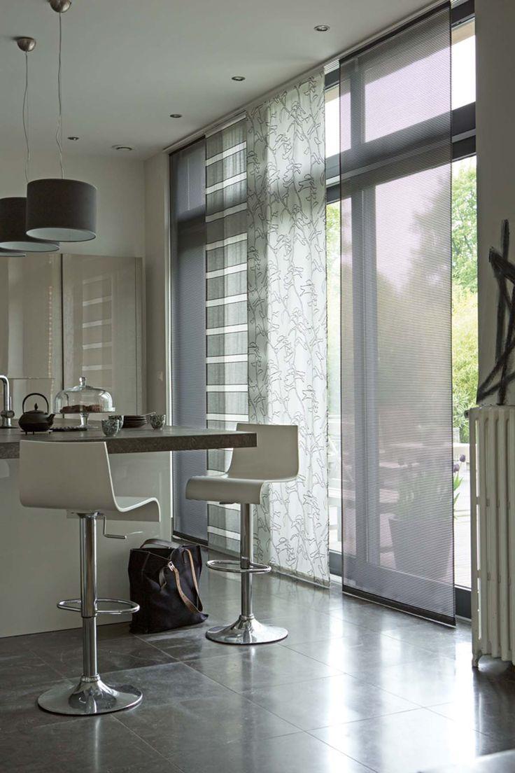 meuble avec rideau coulissant pour cuisine