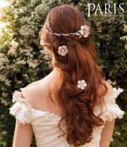 paris long boho wedding hairstyle