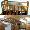 Diy hanging pot rack diy house decor pinterest hanging pot racks