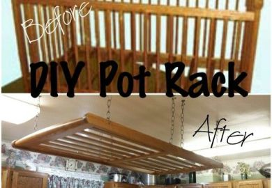 Diy Hanging Pot Racks