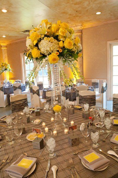 flower chair sashes for wedding camping chairs that fold up small 282 best black & yellow weddings/reception images on pinterest