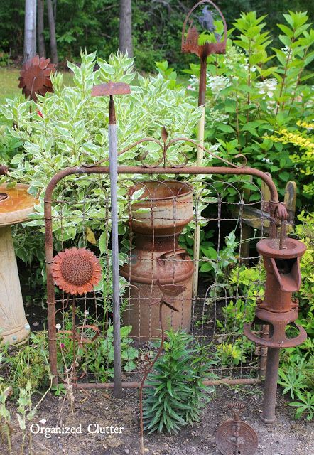 25 Best Ideas About Garden Junk On Pinterest Glass Bird Bath
