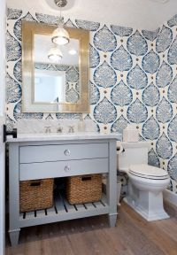Best 25+ Bathroom Wallpaper ideas on Pinterest   Half ...