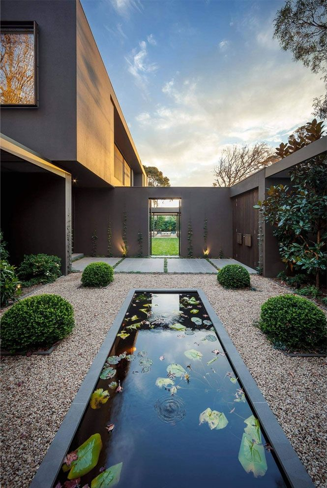 Stunning linear water feature in a contemporary feature garden | adamchristopherde…