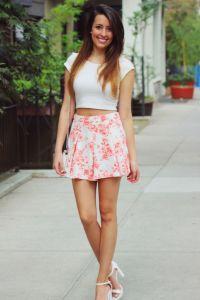 Crop top, skirt, outfit   Wear   Pinterest   Summer ...