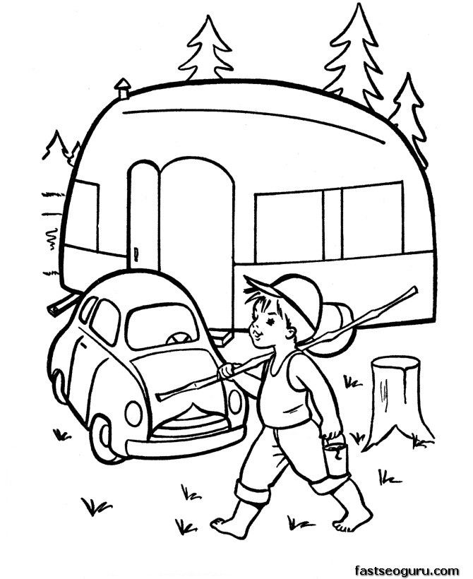 1000+ images about Camping- Coloring Pages on Pinterest