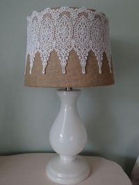 25+ best ideas about Lace Lampshade on Pinterest
