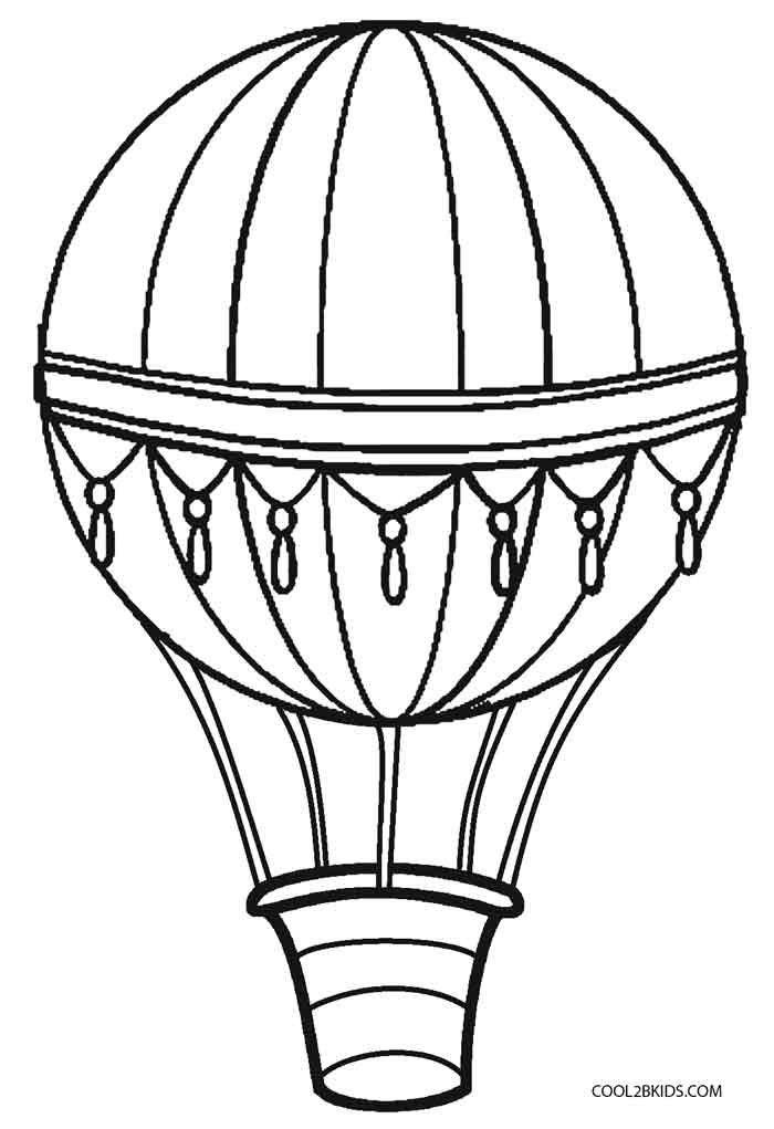 Printable Hot Air Balloon Coloring Pages For Kids