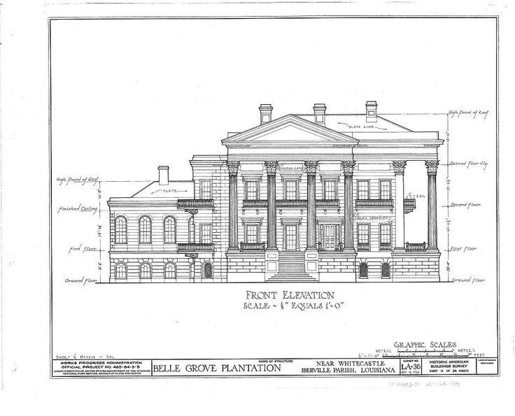 Belle Grove Plantation Mansion, White Castle Louisiana