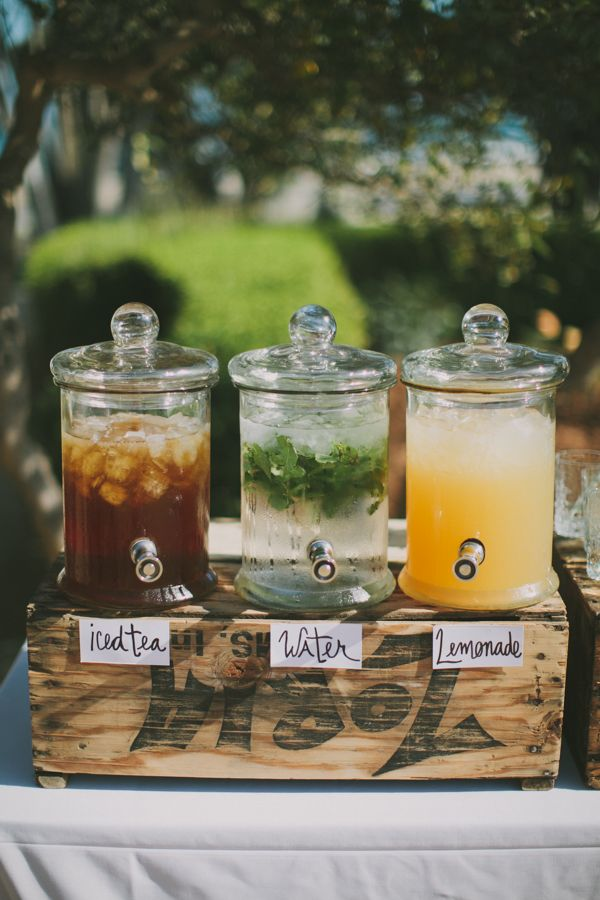 Would love this at the ceremony for guests and at the reception. Maybe for the pre dinner cocktails, guests can help themselves?