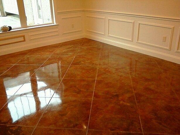 stain concrete floors indoors pictures  Con cr ete