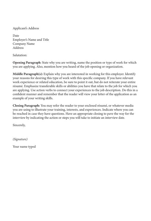 resume covering letters