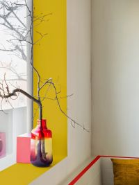 Add a pop of color by painting the window sill and ...