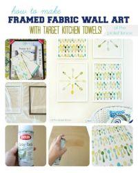 1000+ ideas about Fabric Wall Art on Pinterest | Styrofoam ...
