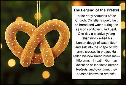 Legend Of The Pretzel Ornament And Story Card Christmas