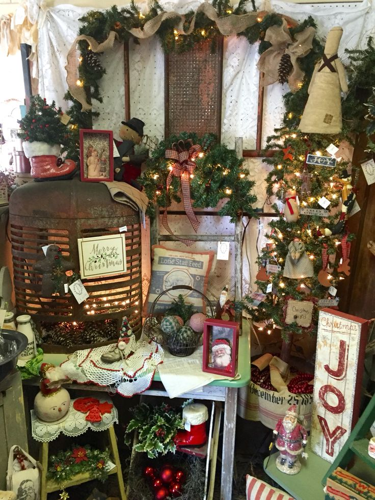 Christmas 2015 booth display at Isaacs Rusty Wagon Energy IL  Booth Displays  Pinterest