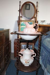 Antique Vintage Wash Basin Stand w Mirror Wash Basin and ...