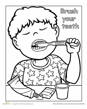 69 best images about Dental Coloring Pages on Pinterest