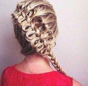 diagonal bow braid hairstyles