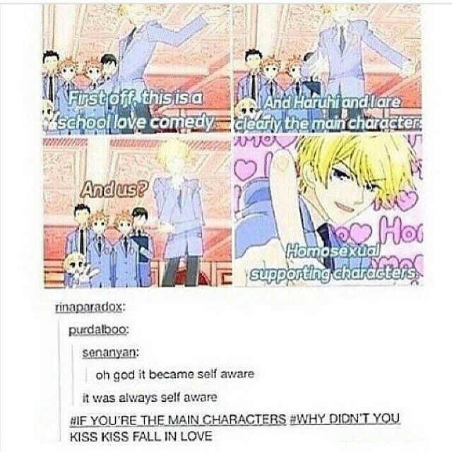 Funny High Club School Faces Ouran Host