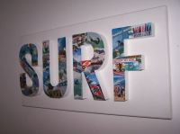 3d letter surf surfing canvas decoupage wall art hanging ...