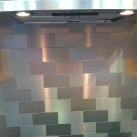Stainless steel subway tile backsplash | Tiles | Pinterest ...