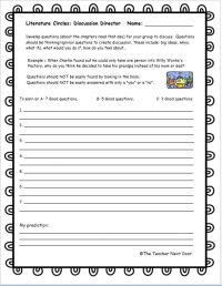All Worksheets  Literature Circle Worksheets - Printable ...