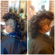 cornrows and mohawk curls #natural