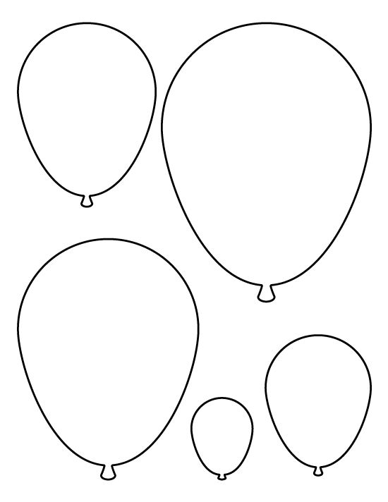 Balloons pattern. Use the printable pattern for crafts
