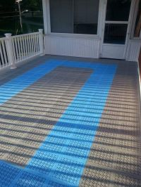 Outdoor Deck Carpeting Over Waterproof Floor