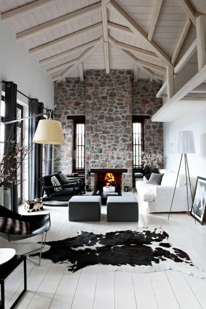 innendesign einrichtungsideen mobel chalet stil l - sichtschutz, Innenarchitektur ideen