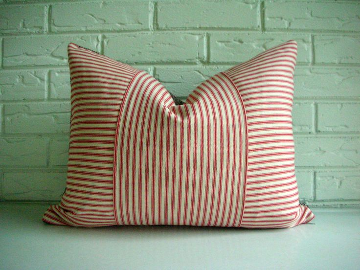 Decorative Throw Pillow Cover  Rustic Decor  Vintage