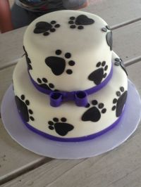 1000+ ideas about Paw Print Cakes on Pinterest | Clue ...