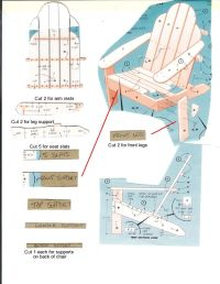 Gumpaste Adirondack Chair Template - WoodWorking Projects ...