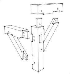 Post and beam, Mortise and tenon and Beams on Pinterest