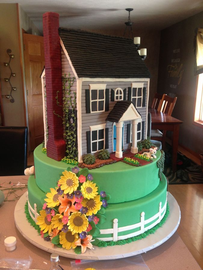 25 Best Ideas About House Cake On Pinterest Simple Fondant Cake