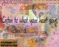 Inspirational Collage Print, Colorful Wall Art