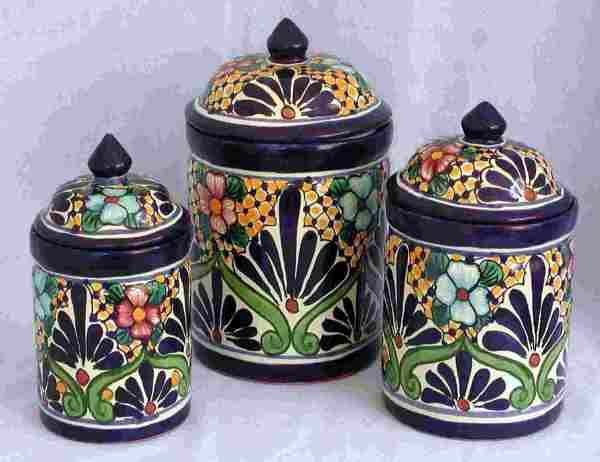 Sets Mexican Ceramic Canister