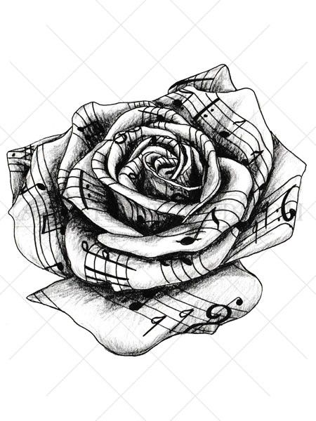 20 Tribal Flower Tattoos Music Notes Rose Ideas And Designs