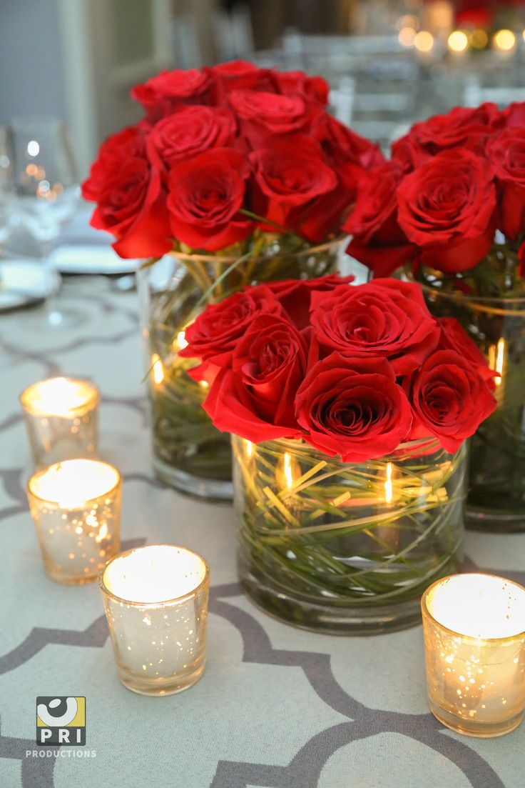 25 Best Ideas about Red Rose Centerpieces on Pinterest  Red wedding centerpieces Red rose