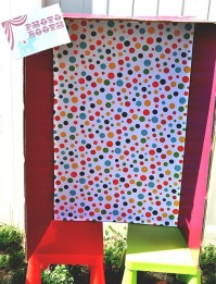 DIY Photo Booth: Made out of painted cardboard, polka dot ...