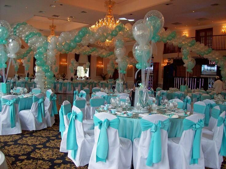 baby blue wedding chair covers wood dining table with white chairs quinceanera decor | 15th birthday! pinterest wedding, mint and aqua