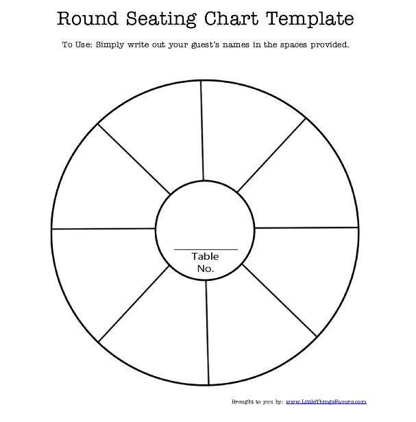 seating chart for round tables
