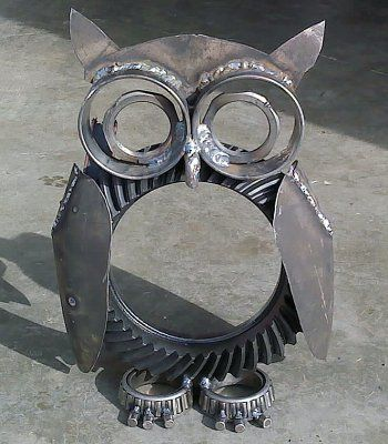 metal art yard projects | Miller – Welding Projects – Idea Gallery – Dana 60 Owl