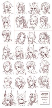 ideas anime hair